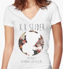 Flowery K.K Slider Concert T Shirt Women's Fitted V-Neck T-Shirt