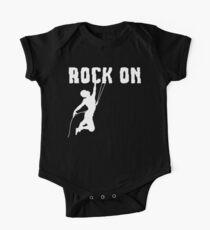 Felsen auf Felsen-Bergsteigen-T-Shirt Baby Body Kurzarm