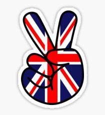 Peace British Style Sticker