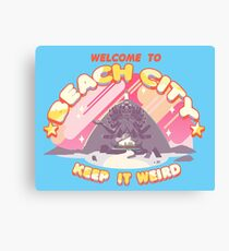 Welcome to Beach City Canvas Print