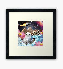 I Dream of Space Owls Framed Print