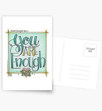 You are Enough Postcards
