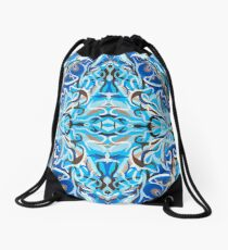 The Blue Dolphin Drawstring Bag