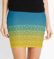 Droplets, Blue and Yellow Mini Skirt