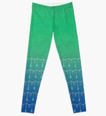 Droplets, Green and Blue Leggings