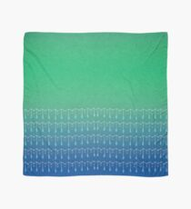 Droplets, Green and Blue Scarf