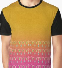 Droplets, Orange and Pink Graphic T-Shirt