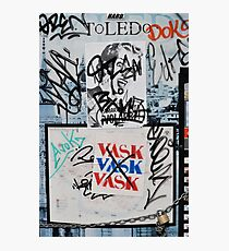 Toledo Graffiti Photographic Print