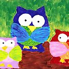 owl trio by luckylittle