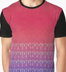 Droplets, Pink and Purple Graphic T-Shirt