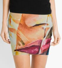 CRINKLE PORTRAIT Mini Skirt