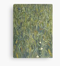 Vincent Van Gogh - Ears Of Wheat. Field landscape: field landscape, nature, village, garden, flowers, trees, sun, rustic, countryside, sky and clouds, summer Canvas Print