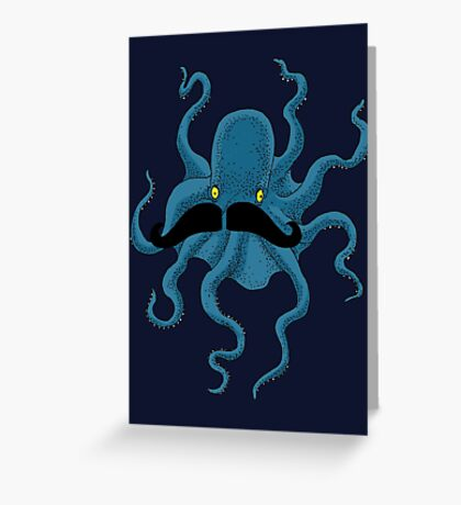 Octopus with a Mustache Greeting Card