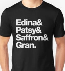 Ab Fab - Edina & Patsy & Saffron & Gran Unisex T-Shirt