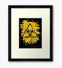 Biohazard – bleached grungy look Framed Print