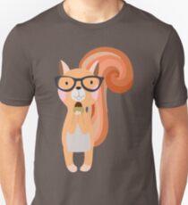 Funny Cartoon Animals Squirrel With Acorn Unisex T-Shirt