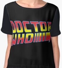 Back to Doctor Who Mash Up  Chiffon Top