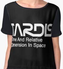 NASA Worm Logo TARDIS (White) Chiffon Top