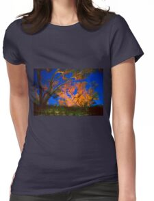 Firelight and star trails Womens Fitted T-Shirt