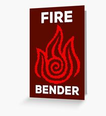 Fire Bender and Proud Greeting Card