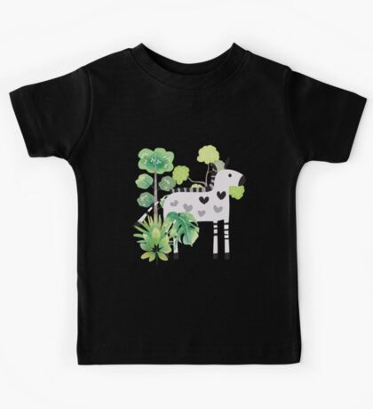 Animals Cartoon Zebra in Jungle Kids Clothes