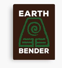 Earth Bender and Proud Canvas Print