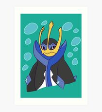 empoleon drawing art prints redbubble