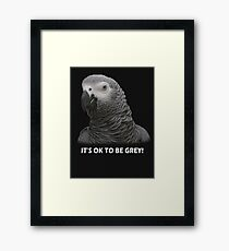 IT'S OK TO BE GREY Framed Print