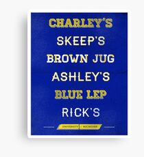 University of Michigan Bars Canvas Print