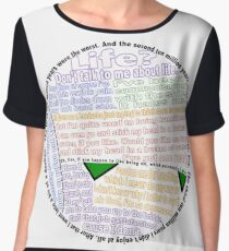 Hitchhiker's Guide Marvin Quotes Chiffon Top