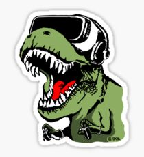 VR T-rex Sticker