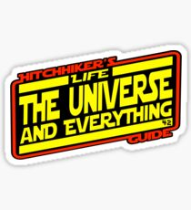 Hitchhiker's Guide Strikes Back Sticker