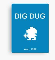 Dig Dug Canvas Print
