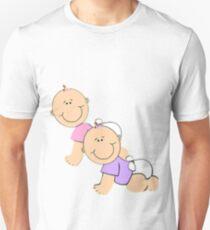 crawling babies Unisex T-Shirt
