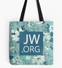 JW.ORG (Blue Floral) Tote Bag