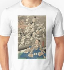 Utagawa Kuniyoshi - Warrior Minamoto Raiko And The Earth Spider. People portrait: party, woman and man, people, family, female and male, peasants, crowd, romance, women and men, city,  society T-Shirt