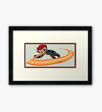 Spin Attack Framed Print