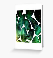 Cosmic Banana Leaves #redbubble #lifestyle Greeting Card