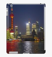 A view of the Pudong pearl tower and skyline at night; Changhai, China iPad Case/Skin