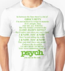 Psych Theme Text Unisex T-Shirt