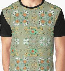 Flower in the Sky Pattern Graphic T-Shirt