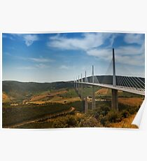 The Millau Viaduct - The Tallest Bridge in the World Poster
