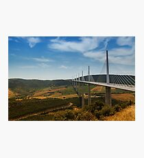 The Millau Viaduct - The Tallest Bridge in the World Photographic Print