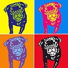 Puggy Warhol by Reviewy McReviewface
