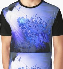 Blue and Light Graphic T-Shirt