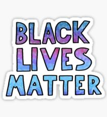 black lives matter block words Sticker