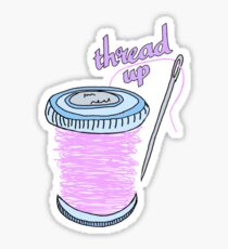 thread up spool and needle Sticker