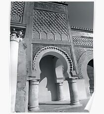 Morocco Meknes without colour Poster