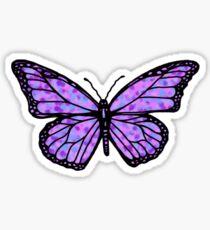 simple purple butterfly Sticker
