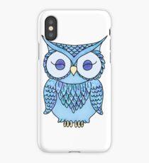 cute blue owl iPhone Case/Skin